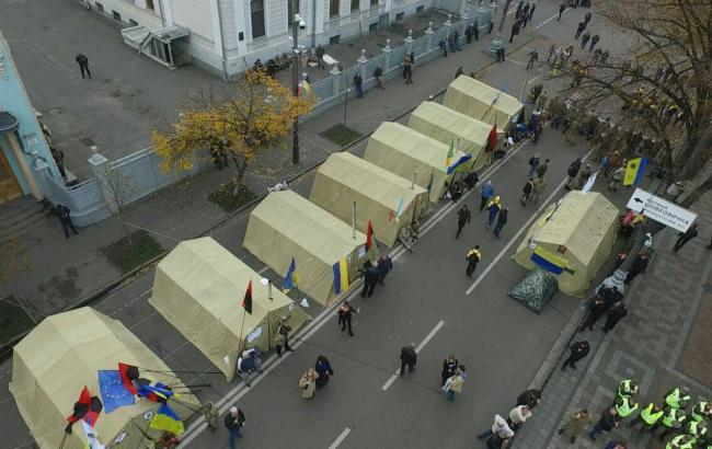 Фото: активисты под Радой (facebook.com/mvs.gov.ua)
