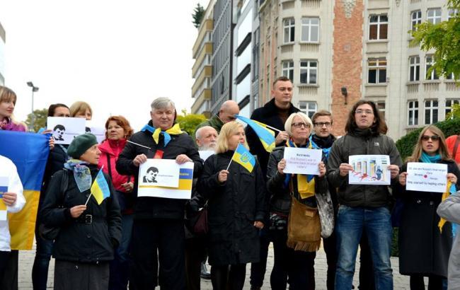 Фото: акция против агрессии РФ в Украине