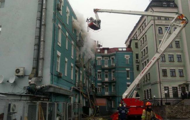 Пожежу у будинку у центрі Києва локалізовано, - ДСНС