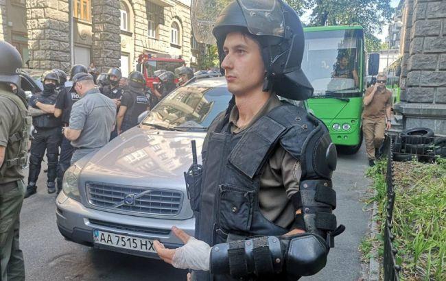 В столкновениях на акции под ОП пострадали полицейские и нацгвардейцы