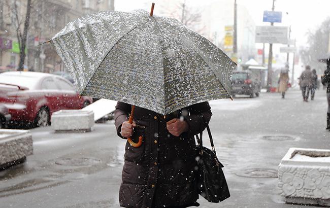 Фото: в Украине местами снег (РБК-Украина)