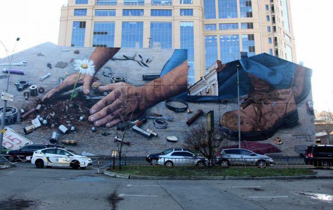 Фото: Мурал в Киеве (facebook.com/kievtypical)