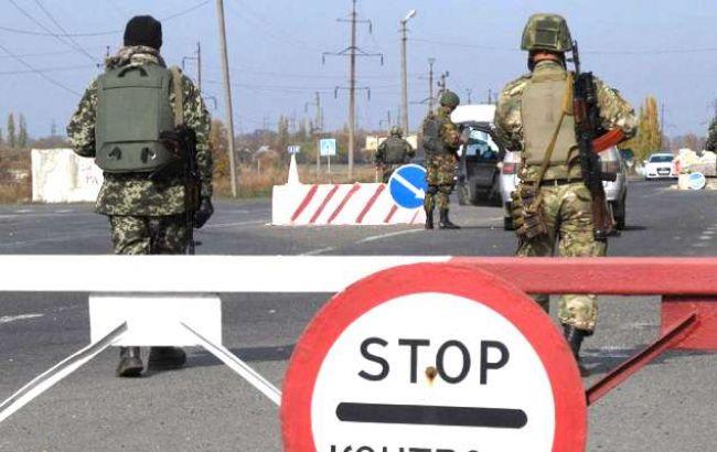 """Фото: бойовики обстріляли контрольний пост """"Мар'їнка"""""""