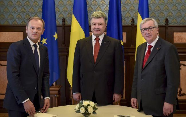 Фото: на саммите Украина-ЕС будут присутствовать Туск, Порошенко и Юнкер
