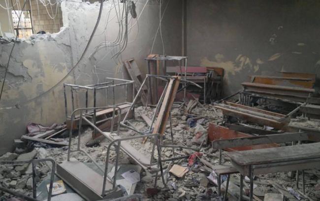 Фото: авиация РФ нанесла удар по школе в Сирии