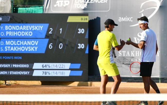 Украинский дует вышел в полуфинал парного турнира по теннису Kyiv Open