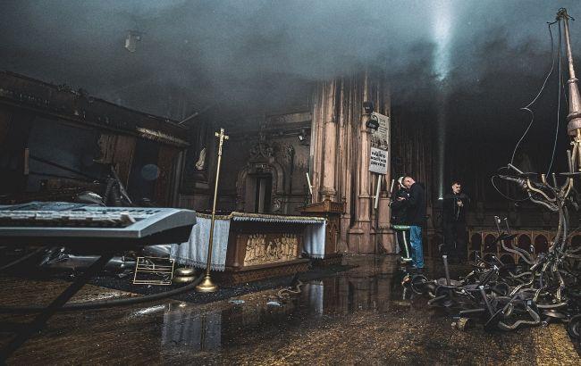 Пожар в столетнем костеле Святого Николая уничтожил уникальный орган