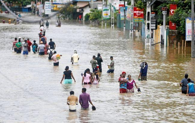 Ілюстративне фото: повінь в Шрі-Ланці