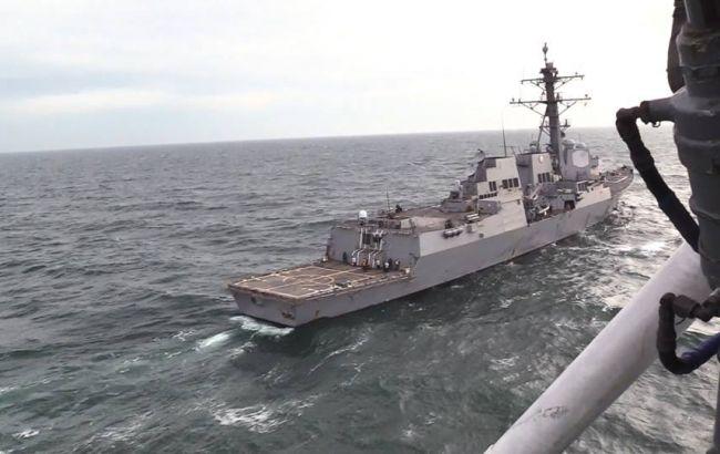 "Фото: американский эсминец (ТРС МОУ ""БРИЗ"")"