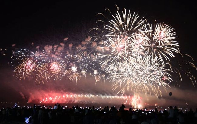 У Дніпрі День міста завершили видовищним світло-лазерним шоу