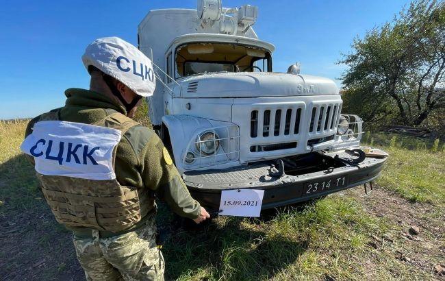 Бойовики порушили режим тиші та обстріляли вантажівку української сторони СЦКК