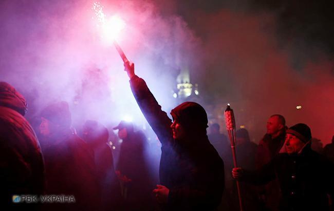 Фото: активисты на Майдане (РБК-Украина)