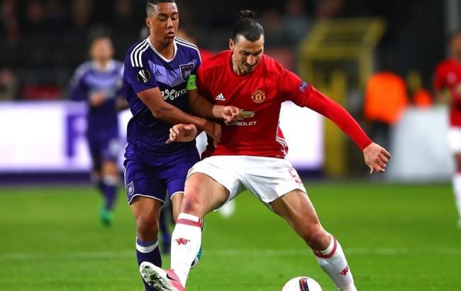 «Манчестер Юнайтед» обыграл «Андерлехт» ивышел вполуфинал Лиги Евпропы