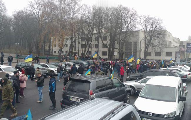 Фото: сбор авто перед акцией (facebook.com/automaidan)