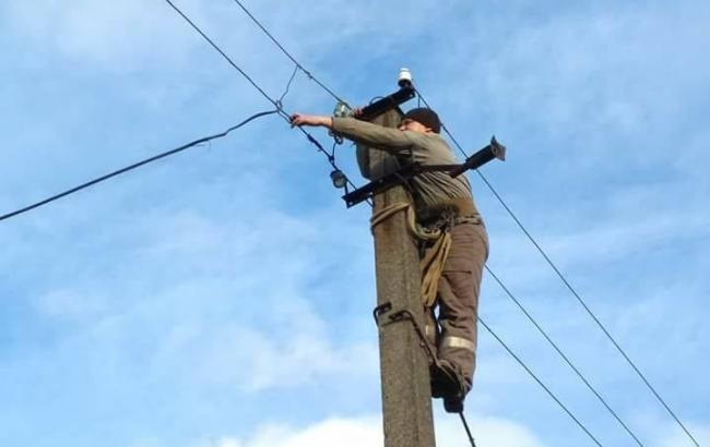Фото: электроснабжение Травневого восстановлено (facebook.com/ato.news)