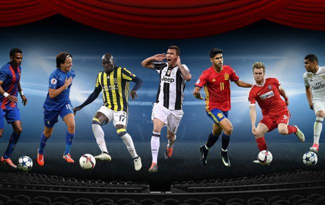 Фото: претенденты на лучший гол сезона (uefa.com)