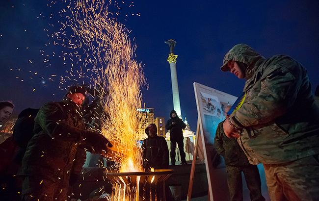 Фото: Люди на Майдане (РБК-Украина)
