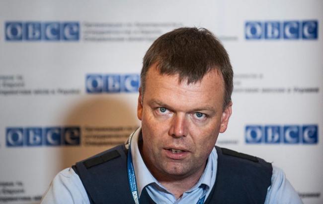 Боевики обстреляли наблюдателей ОБСЕ вЯсиноватой