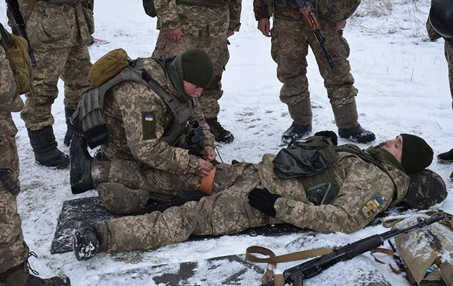 Фото: раненный боец ВСУ (flickr.com/ministryofdefenceua)