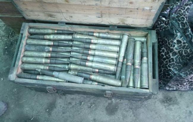 Фото: СБУ знайшла схованку з боєприпасами в районі АТО