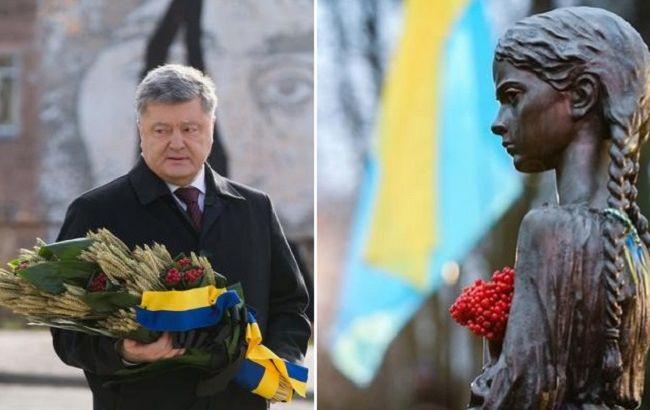 Россия продолжает дело Сталина: Порошенкопочтил память жертв Голодомора (видео)