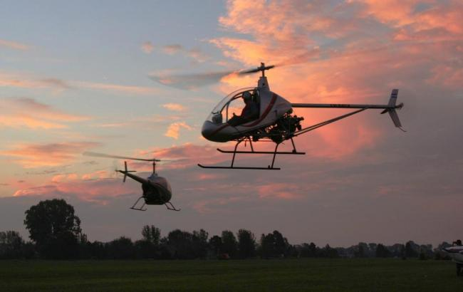 В Хмельницкой области упал вертолет
