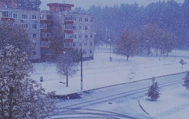 Фото: Перший сніг у Славутичі (instagram.com/tatka5393)