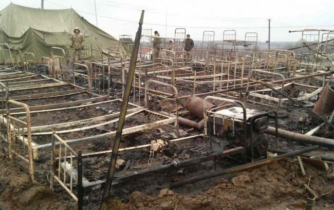 Палаточный городок горел вЖитомирском полигоне