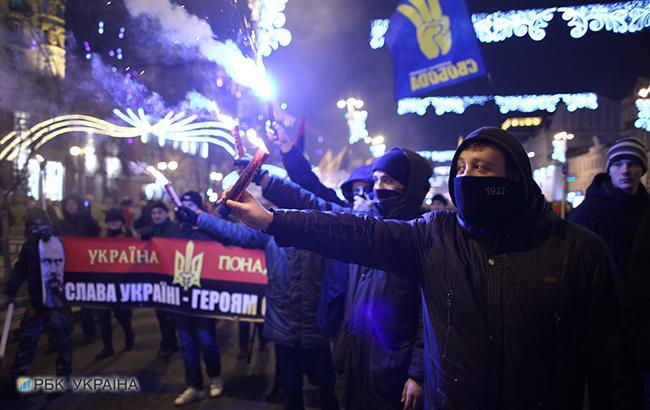 """Фото: Лозунг """"Слава Украине"""" (РБК-Украина)"""