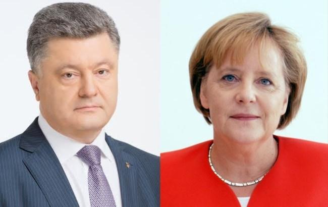 Порошенко провів телефонну розмову з Меркель