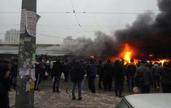 "Фото: пожар на ""Привозе"""