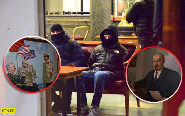 В одном из отелей Днепра обнаружили портреты Сталина и Ленина