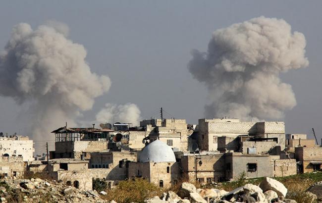 Фото: авиаудары в Алеппо