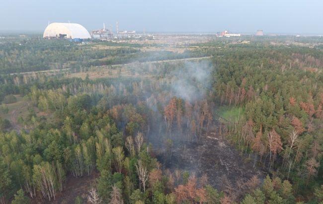 Фото: пожежа виникла поблизу Чорнобильської АЕС