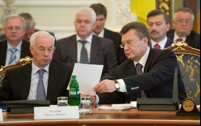 Фото: Віктор Янукович і Микола Азаров