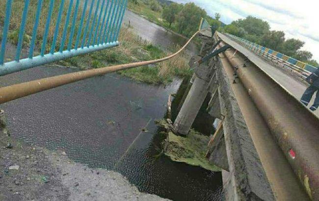 Фото: обрушенный мост
