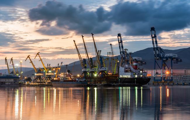 Фото: зупинився Одеський порт