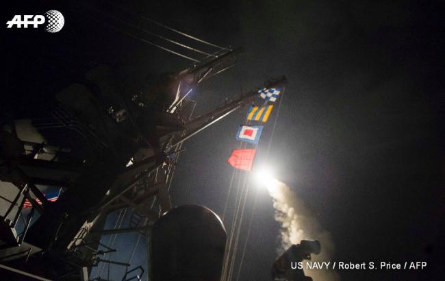 Фото: Пентагон обнародовал первое видео ракетного удара в Сирии