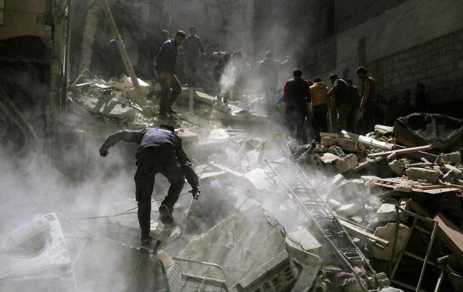 Фото: последствия химической атаки в Идлибе