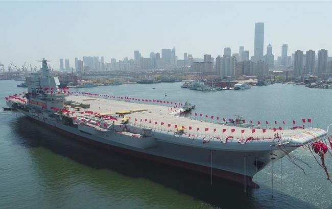 КНР самостоятельно построил авианосец попроекту приобретенного вУкраинском государстве «Варяга»