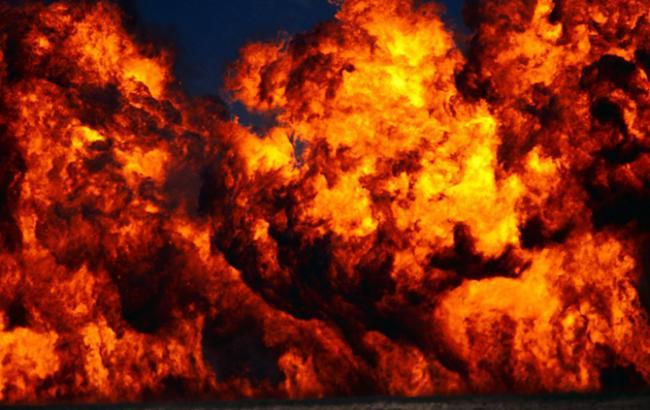 Фото: взрыв в Киеве