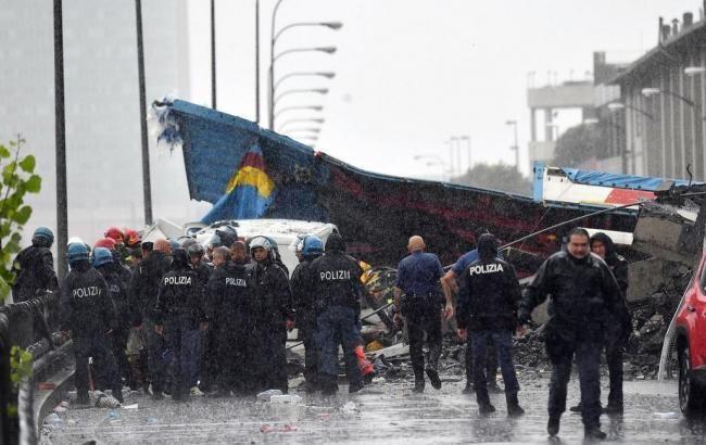 У Генуї на місці обвалення мосту призупинили рятувальну операцію
