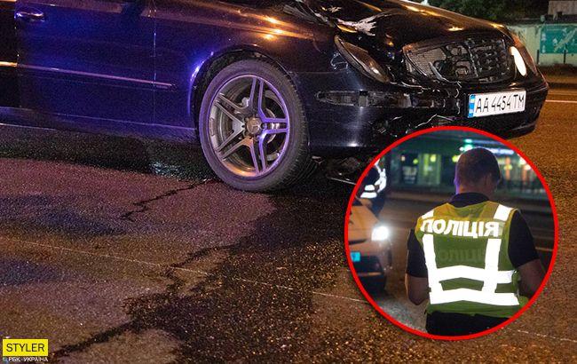 Mercedes розірвав дівчину: з'явилося відео моменту ДТП в Києві (18+)