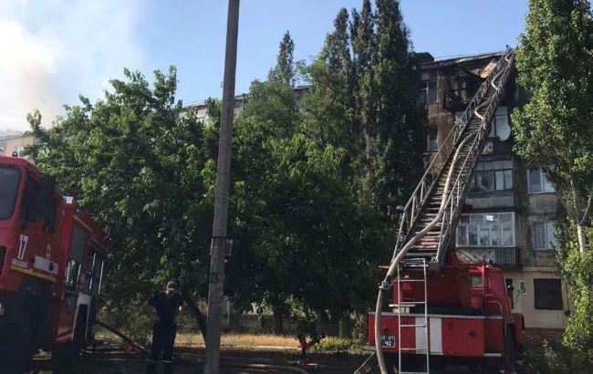 Пожар в Новой Каховке ликвидировали