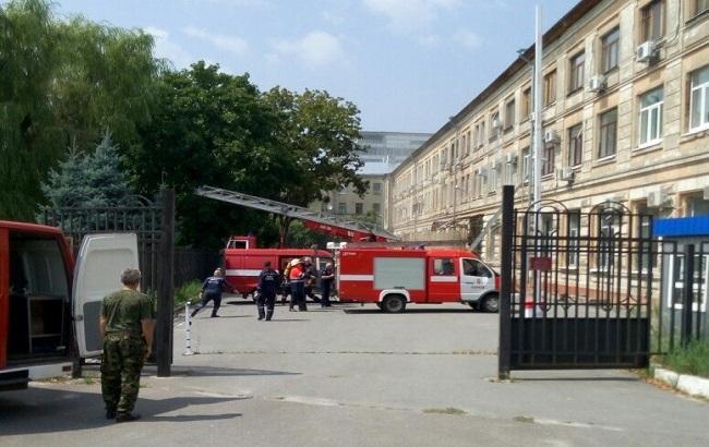 Фото: пожар в Апелляционном суде Харьковской области