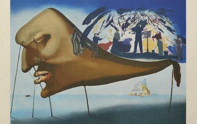 """Фото: Картина Сальвадора Далі """"Сон"""""""