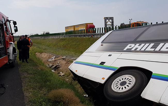 ВДТП вПольше попал туристический автобус