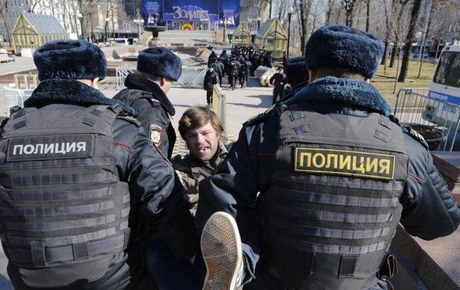 У центрі Москви затримано понад 500 учасників акції протесту