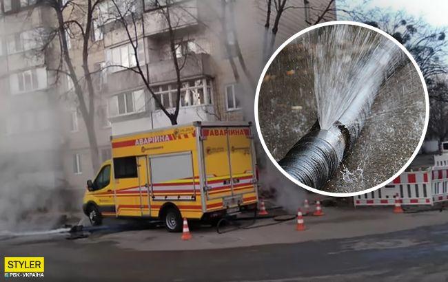 Улицы Киева снова залило кипятком: страдают сотни людей