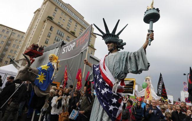 Фото: акция протеста в столице Германии